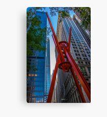 Street Sculpture Downtown Manhattan New York Canvas Print