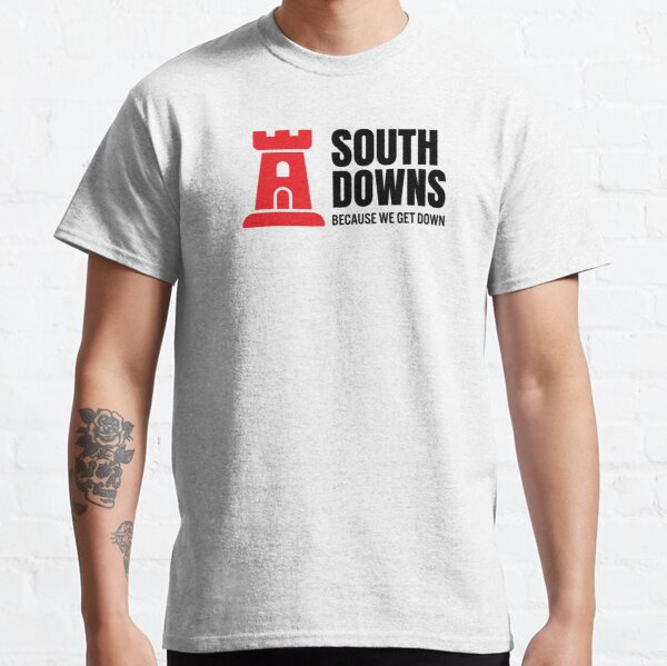 South Downs Because We Get Down Red Tower Two Classic T-Shirt