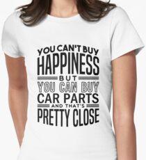 Glück ist Autoteile Tailliertes T-Shirt für Frauen