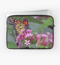 Monarch in pink ixora Laptop Sleeve