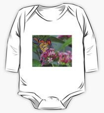 Monarch in pink ixora One Piece - Long Sleeve
