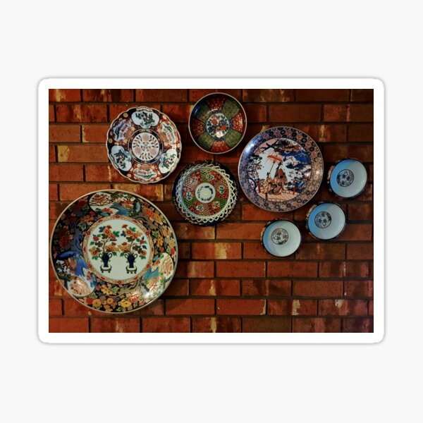 Japanese Plate and Pottery Art Sticker