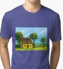 Peaceful yellow house Tri-blend T-Shirt
