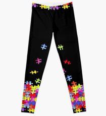 autism puzzle pieces Leggings