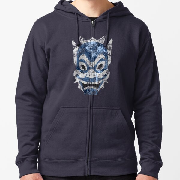 Blue Spirit Splatter Zipped Hoodie