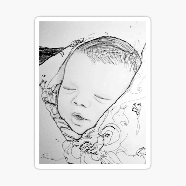 Baby in Blanket Sticker