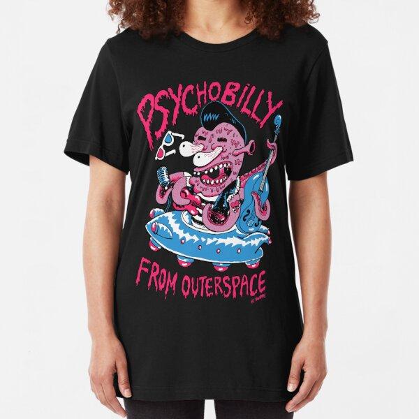 Psychobilly de outerspace T-shirt ajusté