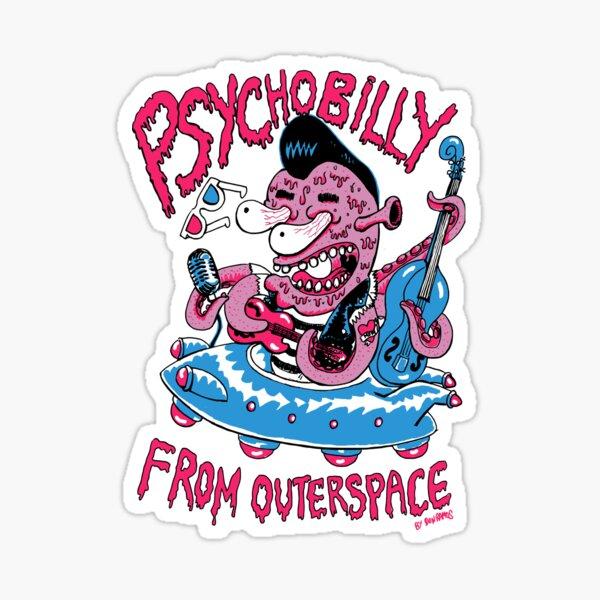 Psychobilly de outerspace Sticker