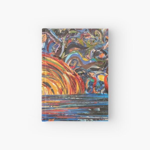 Red Moon Paper Painting Hardcover Journal
