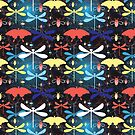 Graphic pattern different insects by Tanor