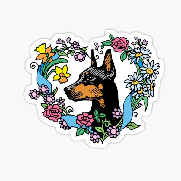 Dobe Flower Heart Sticker