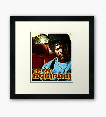 """Pulp Fiction- Jules """"The Bad Motherfucker"""" Framed Print"""
