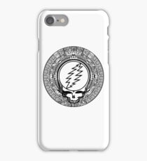 Mayan Calendar Stealie - B&W iPhone Case/Skin