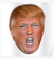 Angry Trump Head Poster