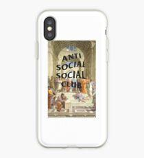 anti social social club x raphael iPhone Case