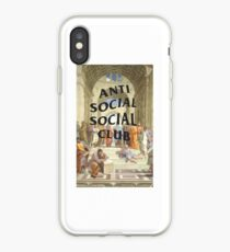 anti social social club x raphael iPhone Case
