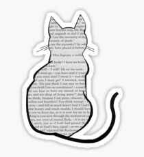 Cats and Jane Eyre Sticker