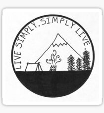 Live Simply. Simply Live. Sticker