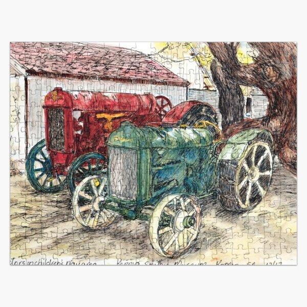 Australian Scene - Vintage Tractors  Jigsaw Puzzle