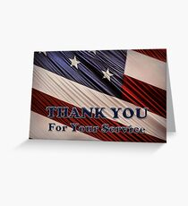 USA Military Veterans Patriotic Flag Thank You Greeting Card