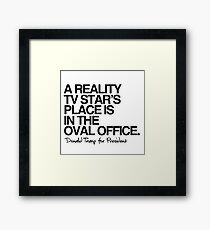 Reality Star in the Oval Office Framed Print