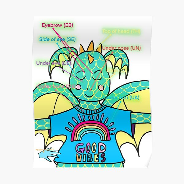 EFT Tapping Reference Poster Dragon Poster