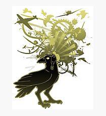 Kamikaze Raven Photographic Print