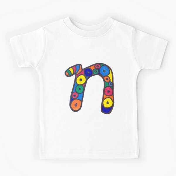 letter n in colorful circles Kids T-Shirt