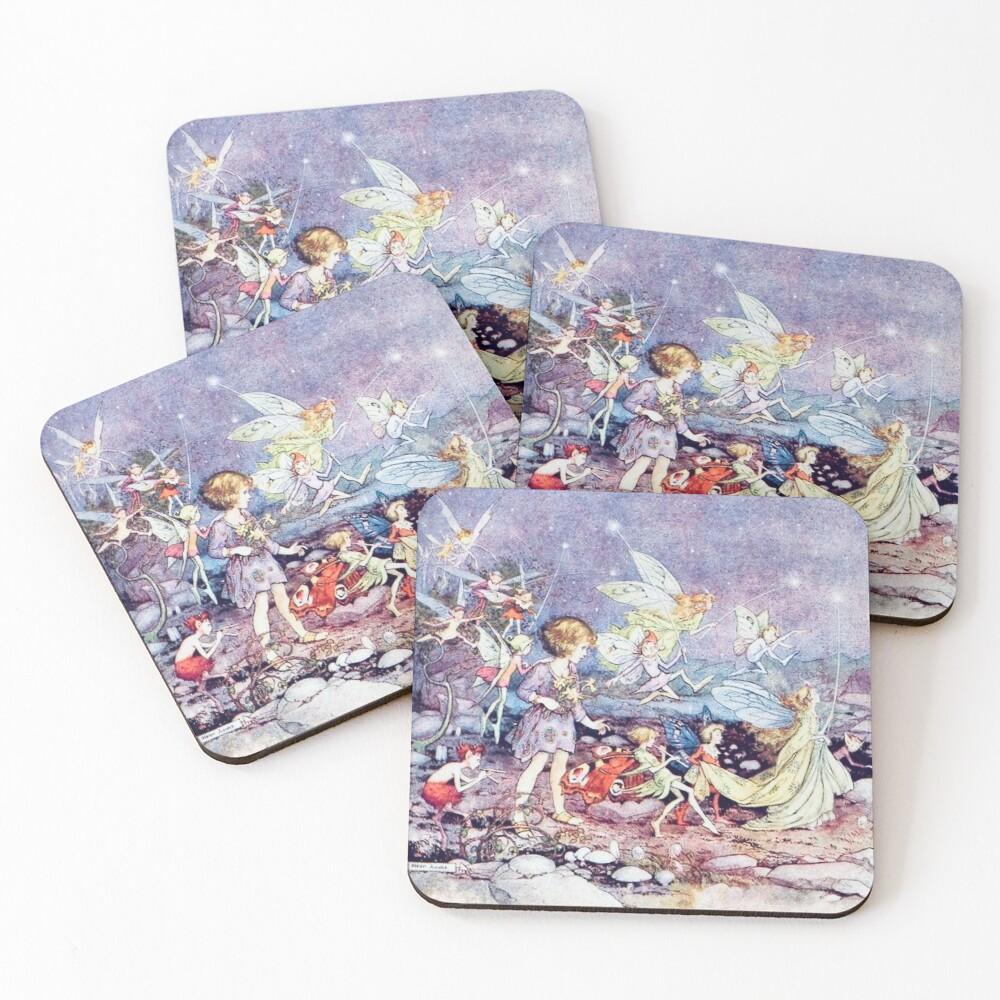"""""""Starlight"""" by Helen Jacobs 1918 Coasters (Set of 4)"""