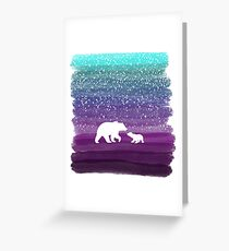 Bears from the Purple Dream Greeting Card
