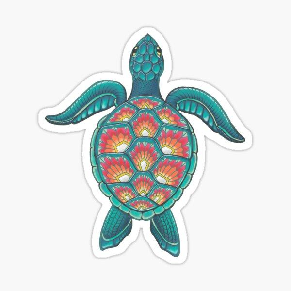Mandala Turtle Sticker