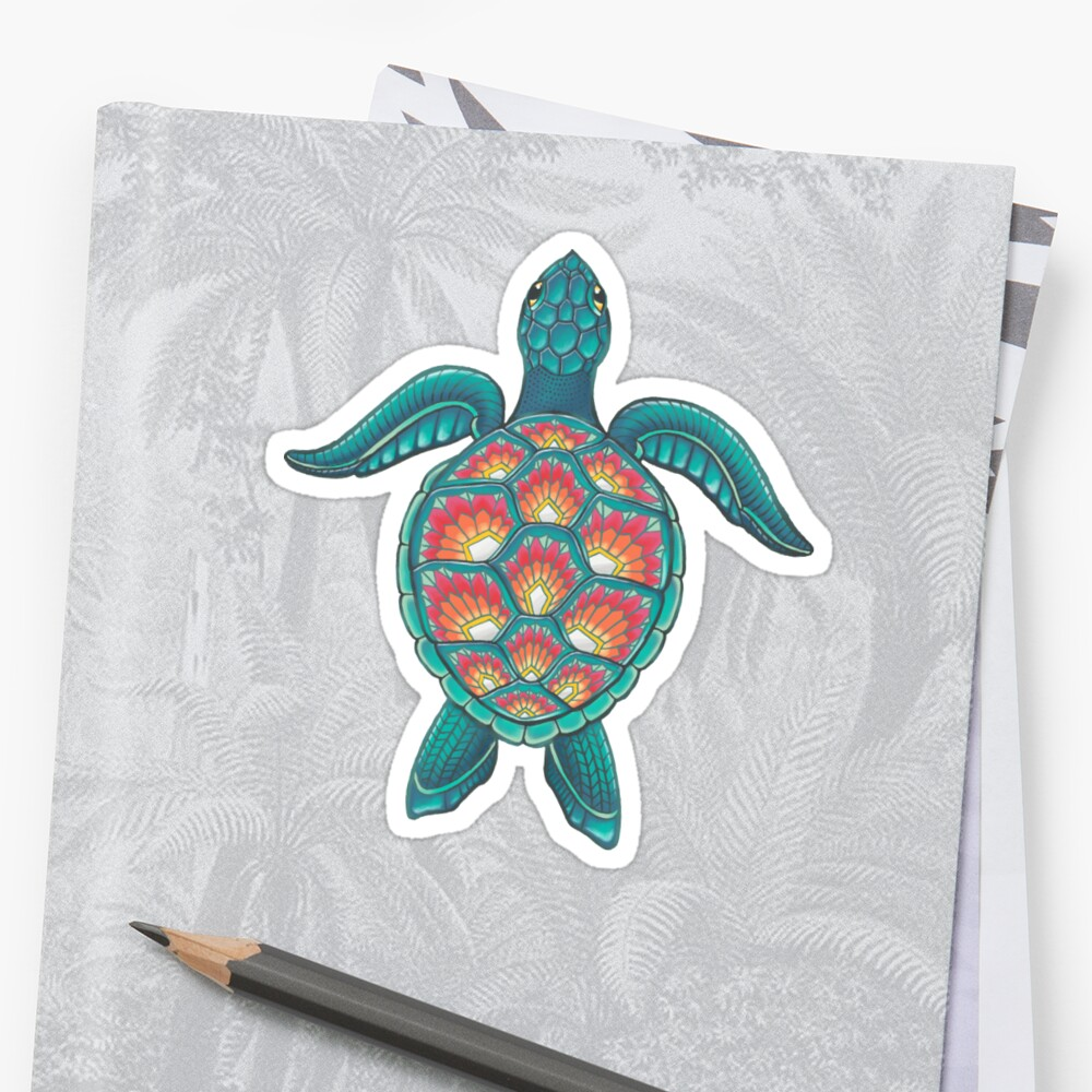 Mandala Turtle Sticker