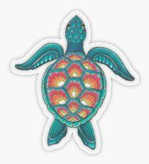 Mandala-Schildkröte Transparenter Sticker