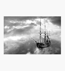 Neverland Ship (B&W) Photographic Print