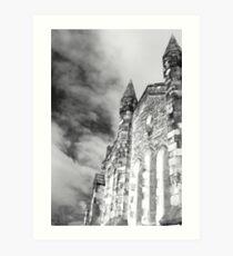 Phantasmagoria ~ Black & White Gothic Church Image  ~ St Mary's Church, Bagillt Art Print