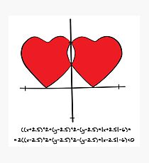 Two geek hearts  Photographic Print
