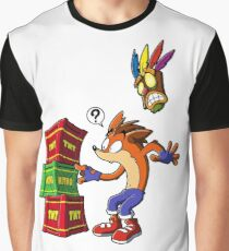Crash Bandicoot and the crates Graphic T-Shirt