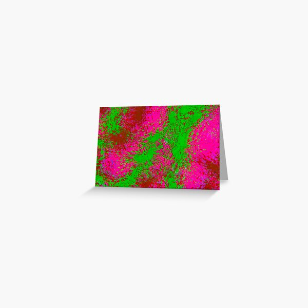 Fanny Pack Glitch Pink and Lime Greeting Card