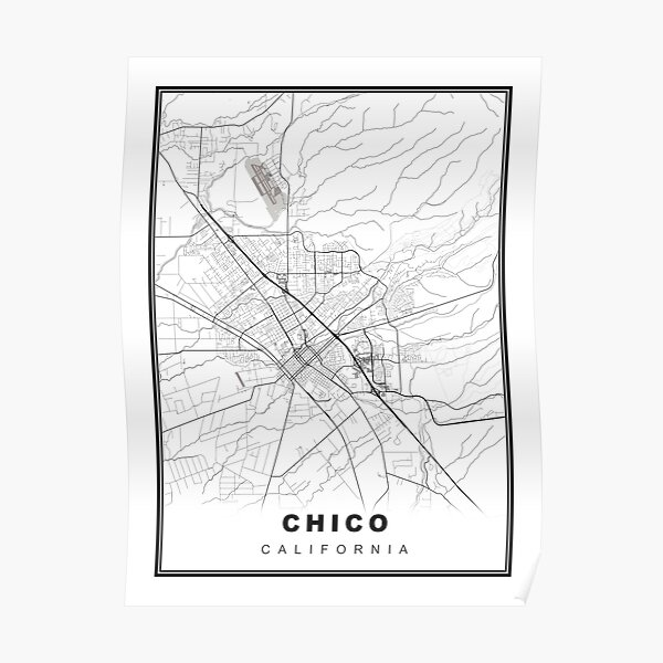 Chico Map Poster
