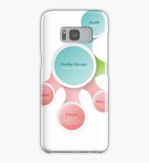 Healthy Lifestyle infographics Samsung Galaxy Case/Skin