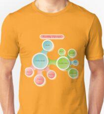 Healthy Lifestyle infographics Unisex T-Shirt