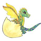 Hatching Rainbow Dragon by whimsystation