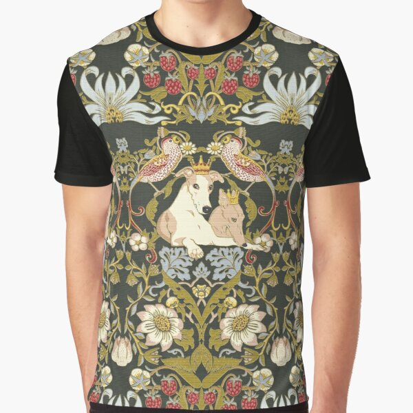 Whippets and Strawberry Thieves Graphic T-Shirt