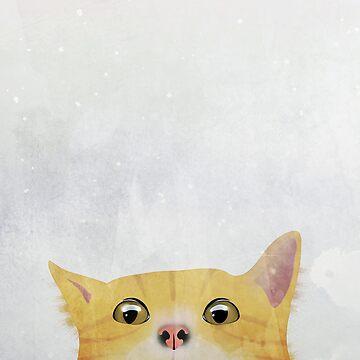 Curious Orange Cat by nannapaskesen