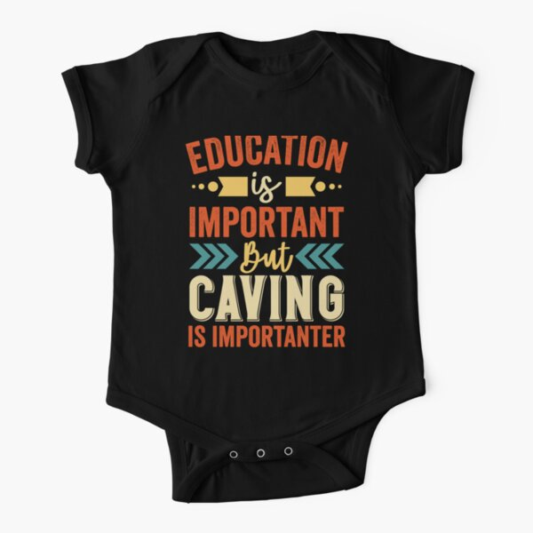 Caving Is Importanter Short Sleeve Baby One-Piece