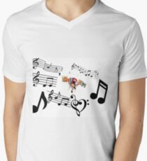 Camiseta para hombre de cuello en v Sondheim