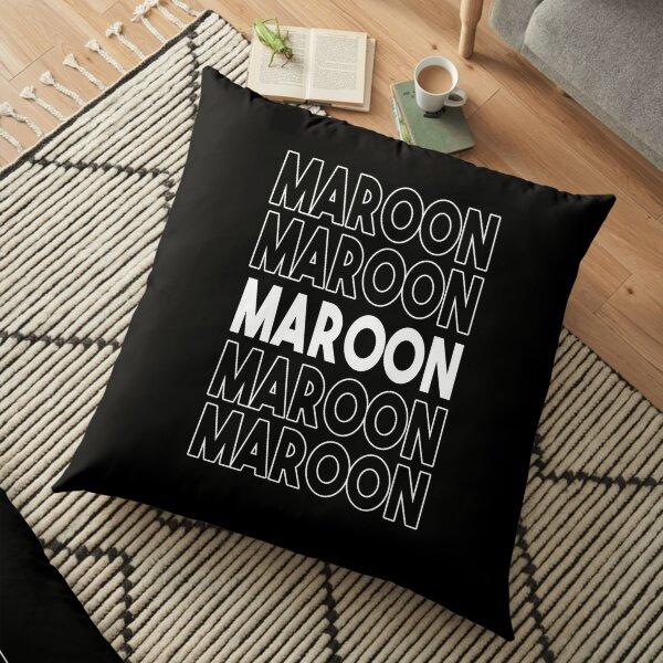 Maroon five times Floor Pillow