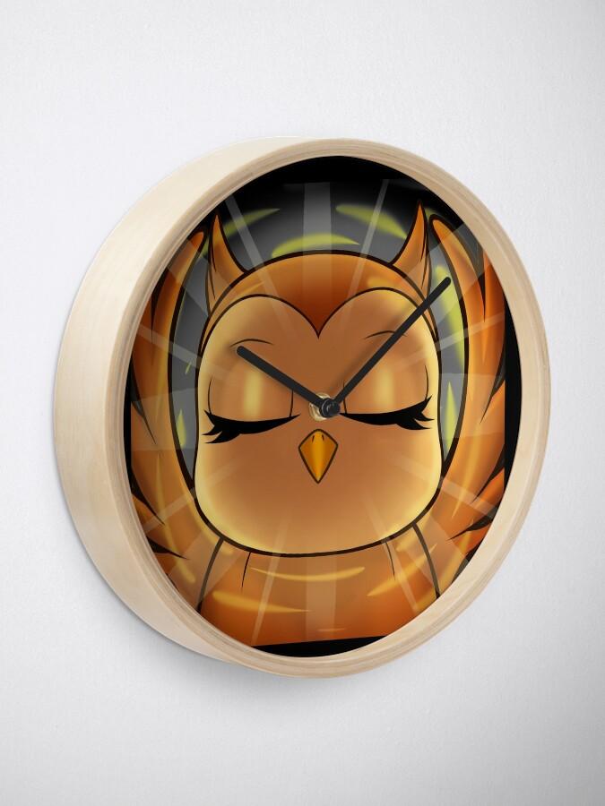 Alternate view of hedwid 1 Year Enlightened Owl Clock