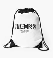 TECHNO MUSIC Drawstring Bag