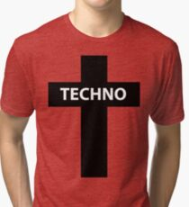 TECHNO MUSIC Tri-blend T-Shirt